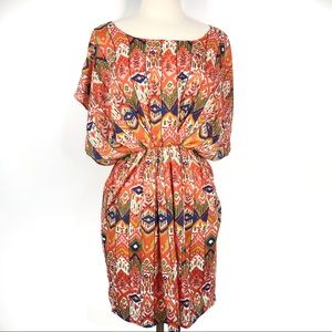 Anthro Maeve Tribal Boho Blouson Dress Size Med